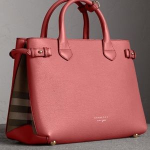 Brand new Burberry Banner pink check satchel